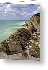 Jurassic Coast From Lulworth Cove Greeting Card