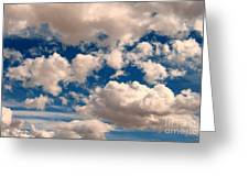 Just A Face In The Clouds Greeting Card