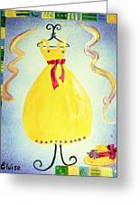 Just A Simple Hat And Dress Greeting Card