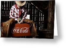 Just Another Coca-cola Cowboy 3 Greeting Card by James Sage