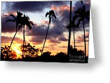 Just Another Sunrise In Paradise Greeting Card