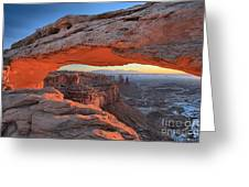 Just Before Sunrise At Canyonlands Greeting Card