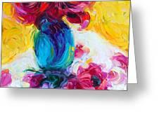 Just Past Bloom - Roses Still Life Greeting Card by Talya Johnson
