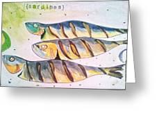 Just Sardines Greeting Card