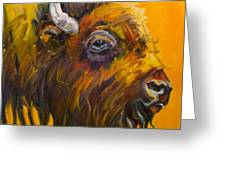 Just Sayin Bison Greeting Card