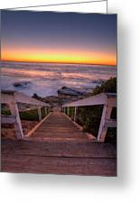 Just Steps To The Sea Greeting Card
