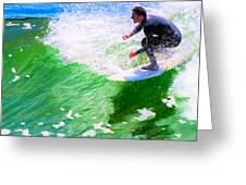 Just Surf - Santa Cruz California Surfing Greeting Card