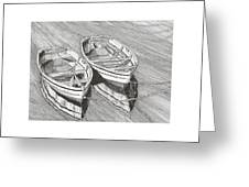 Two Dinghy Friends Just The Two Of Us Greeting Card