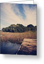 Just To Make This Dock My Home Greeting Card by Laurie Search