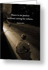 Justice For All Greeting Card