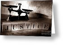 Justice Greeting Card by Olivier Le Queinec