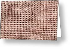 Jute Background Greeting Card