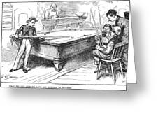 Juvenile Delinquency, 1881 Greeting Card
