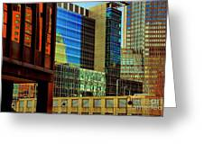 Juxtaposition Of Pittsburgh Buildings Greeting Card