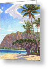 Kaaawa Beach - Oahu Greeting Card