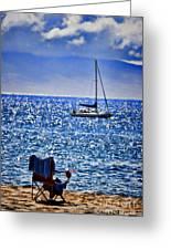 Kaana Pali Beach In Maui Greeting Card by David Smith
