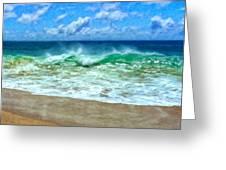 Kaanapali Shorebreak Maui Greeting Card