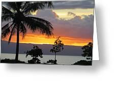 Kaanapali Sunset Greeting Card