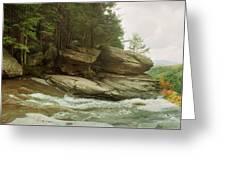 Kaaterskill Falls In Autumn, Catskill Greeting Card