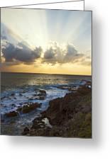 Kaena Point State Park Sunset 3 - Oahu Hawaii Greeting Card