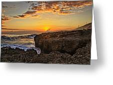 Kaena Point Sunset Greeting Card