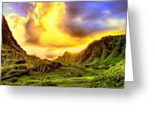 Kahana Valley Sunset Greeting Card