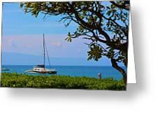 Kahanapali Beach Maui Greeting Card