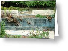 Kahlil Gibran Memorial Garden Greeting Card