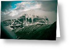 Kailas Mountain Tibet Home Of The Lord Shiva Greeting Card