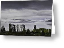Kal Lake In The Mist Greeting Card by Rod Sterling