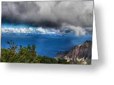Kalalau Outlook  Greeting Card
