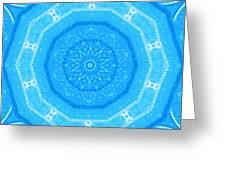 Kaleidoscope Blues Greeting Card by Paulette Maffucci