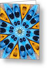Kaleidoscope Canoes Greeting Card