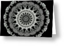 Kaleidoscope Ernst Haeckl Sea Life Series Black And White Set 2 Greeting Card