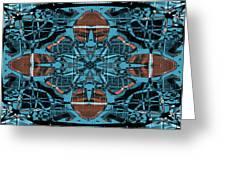 Kaleidoscope Flower 2 Greeting Card
