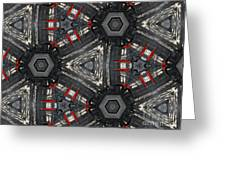 Kaleidoscope In Black Greeting Card