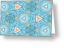 Kaleidoscope In Turquoise Greeting Card