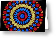 Kaleidoscope Of Colorful Embroidery Greeting Card