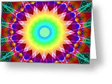 Kaleidoscope Rainbow Greeting Card