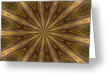 Kaleidoscope With Gold Greeting Card