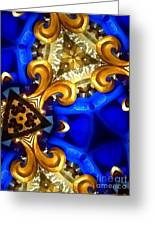 Kaleidoscopic Blues Fdl  Greeting Card