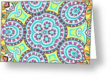 Kaleidoscopic Whimsy Greeting Card