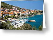 Kali Small Fishermen Town Harbor Greeting Card