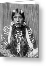 Kalispel Indian Woman Circa 1910 Greeting Card by Aged Pixel