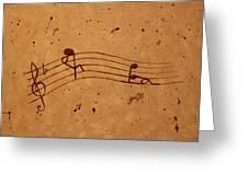 Kamasutra Abstract Music 2 Coffee Painting Greeting Card