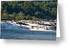 Kanawah Falls I - Spring Greeting Card
