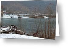 Kanawha Falls - Winter Greeting Card
