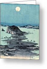 Kanazawa Full Moon 1857 Middle Greeting Card