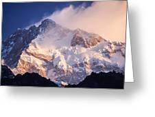 Kanchenjunga From  Goecha La  Greeting Card