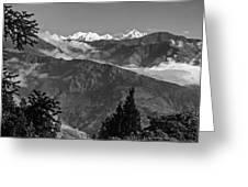 Kanchenjunga Monochrome Greeting Card